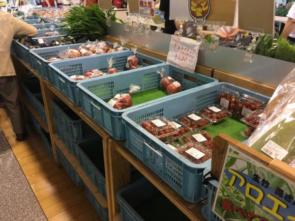 潮見坂の道の駅の野菜