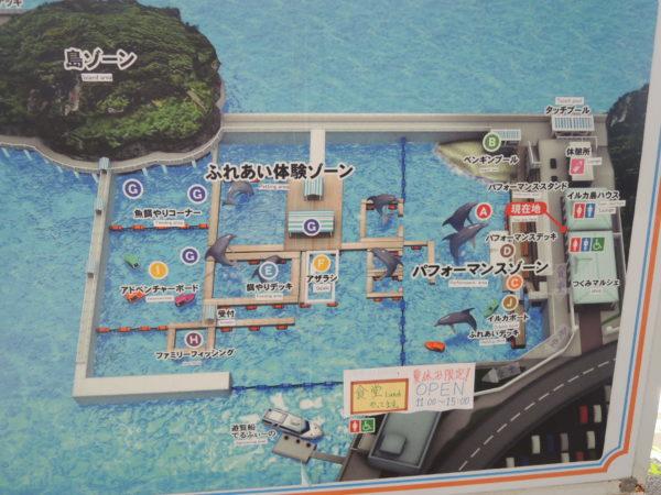 イルカ島の全体図