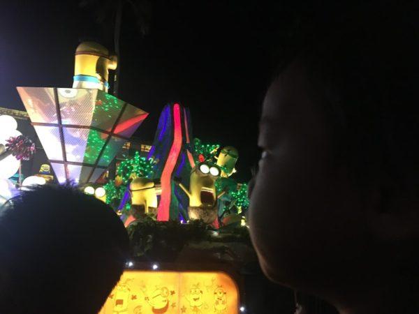 USJ夜のパレードに息子興奮