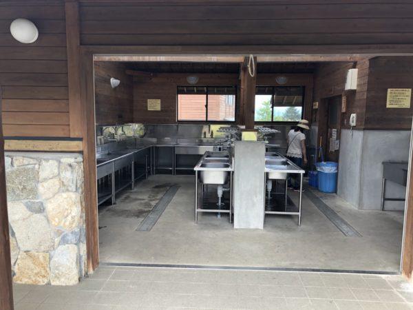 うるぎ星の森キャンプ場の炊事場