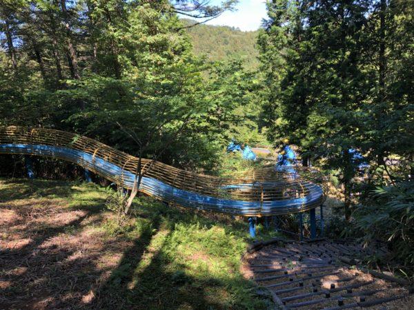 うるぎ星の森キャンプ場の巨大滑り台